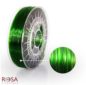 Rosa3D PET-G Standard 1,75mm Pure Green Transparent 0,8kg